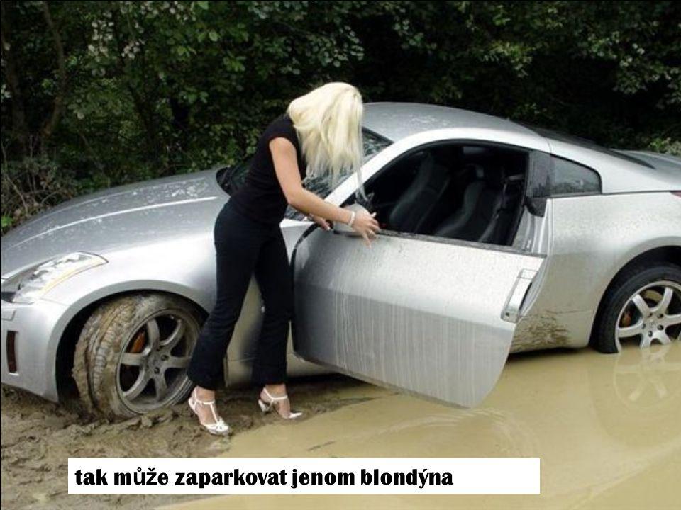 tak m ůž e zaparkovat jenom blondýna
