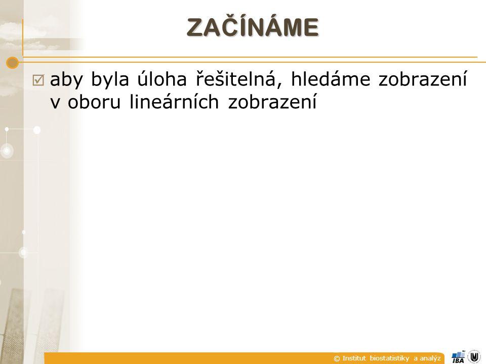 © Institut biostatistiky a analýz GEOMETRICKÁ INTERPRETACE