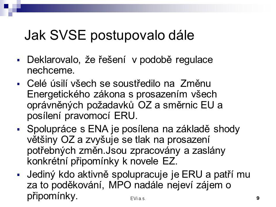 EVi a.s.10 Jaké jsou výsledky  U OZ v měsíci srpnu probíhaly v souladu se zadáním RWE výběrová řízení pro rok 2008.