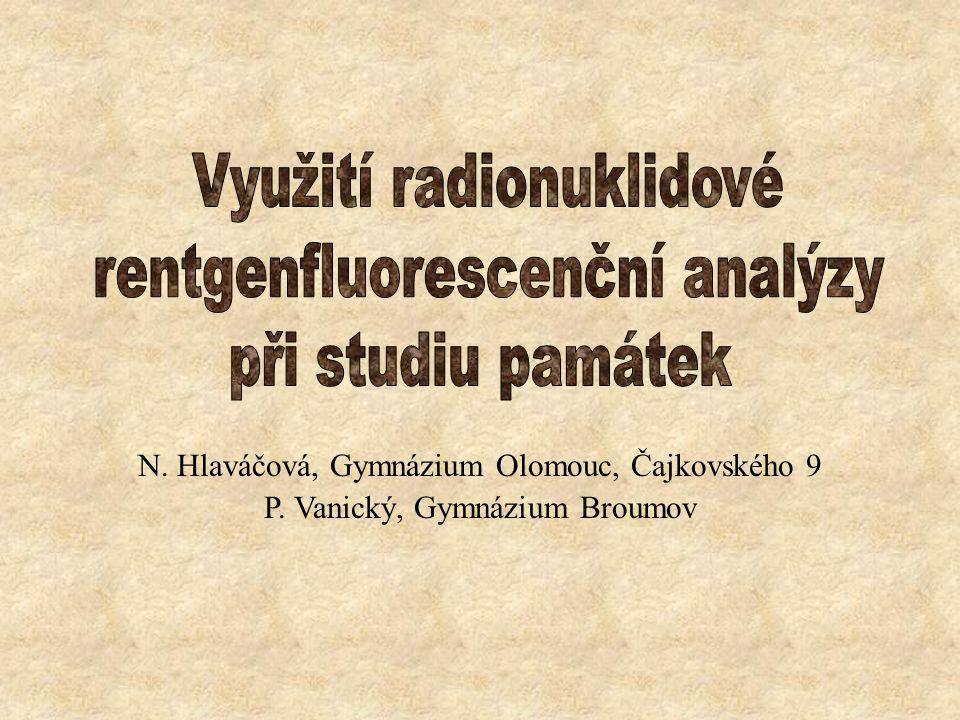 N. Hlaváčová, Gymnázium Olomouc, Čajkovského 9 P. Vanický, Gymnázium Broumov