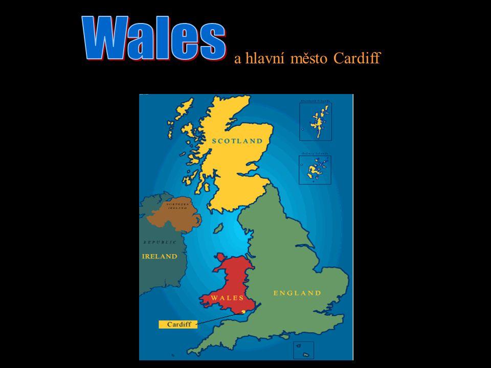 a hlavní město Cardiff