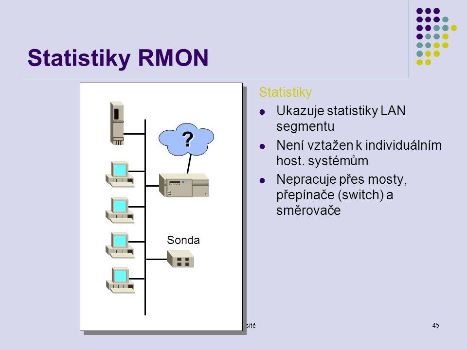Počítačové sítě45 Statistiky RMON Sonda .