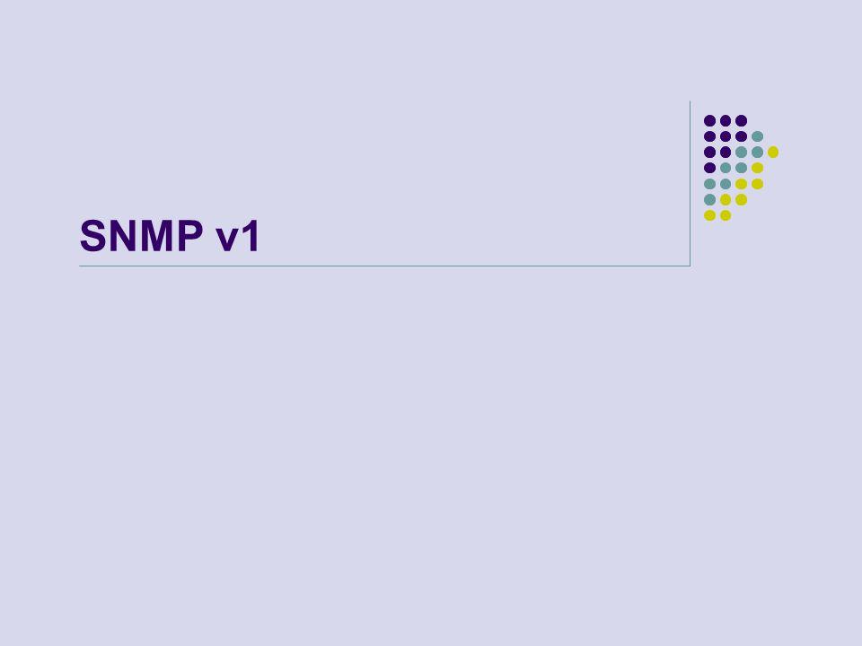 SNMP v1