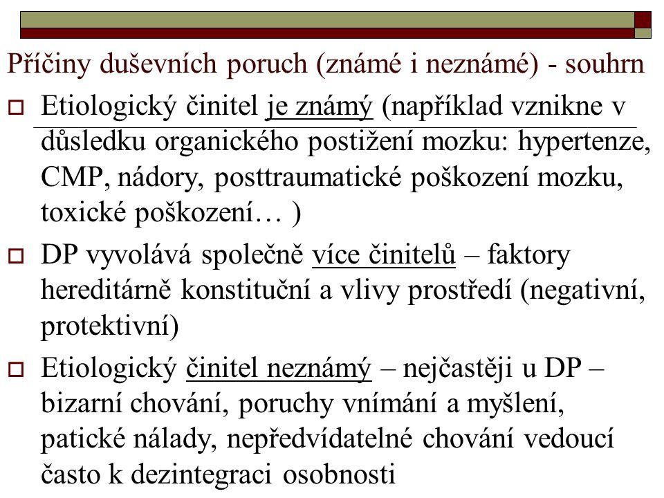 K výkladu syndromu využíváme Cloningerovu čtyřdimenzionální typologii osobnosti 1.