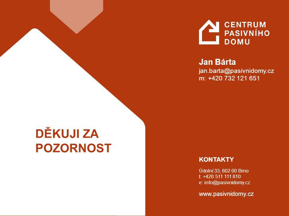 11 KONTAKTY Údolní 33, 602 00 Brno t: +420 511 111 810 e: info@pasivnidomy.cz www.pasivnidomy.cz Jan Bárta jan.barta@pasivnidomy.cz m: +420 732 121 65