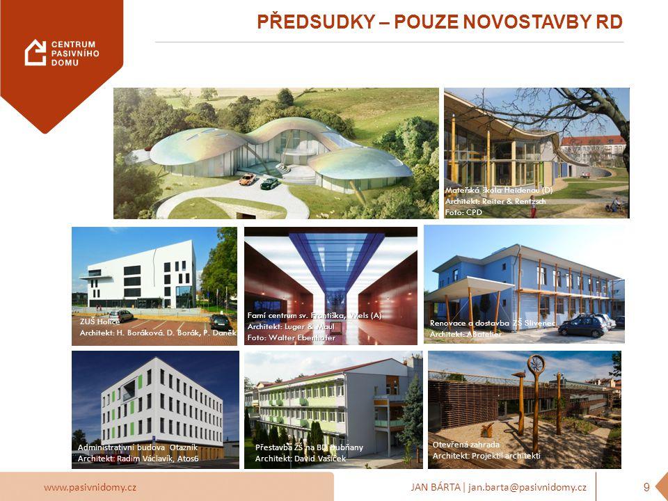 www.pasivnidomy.czJAN BÁRTA | jan.barta@pasivnidomy.cz Pasivní a nulové domy mají být jednoduché funkční finančně dostupné NORMÁLNÍ 10