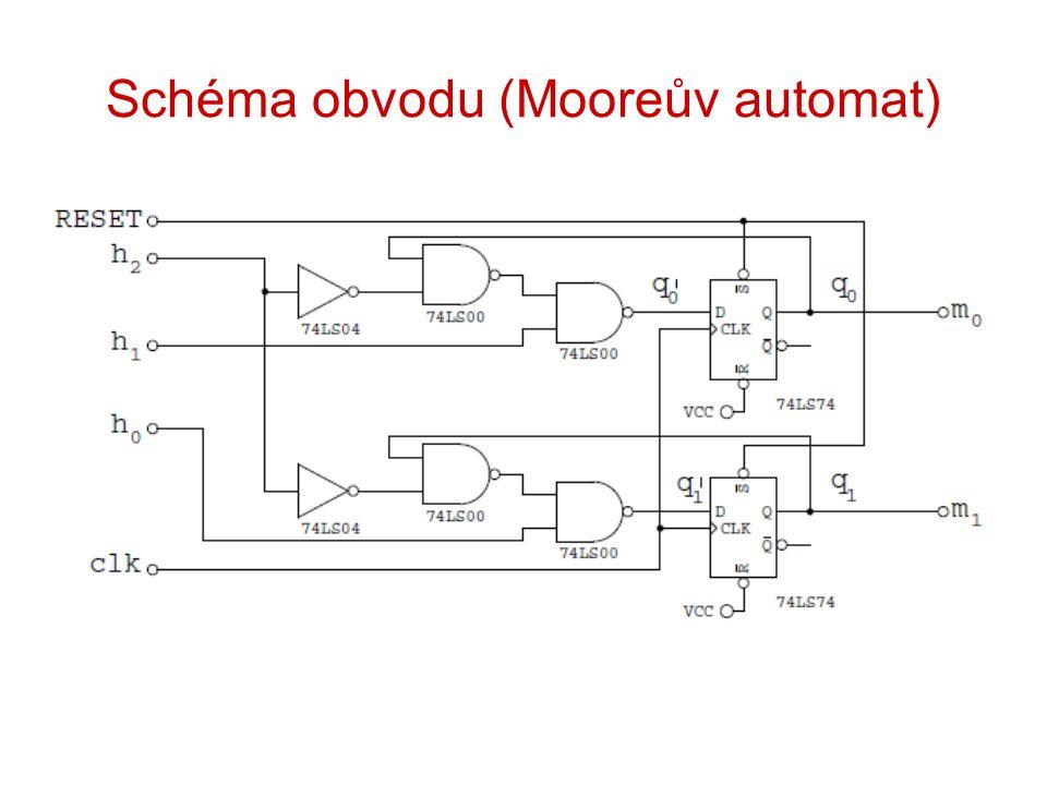 Schéma obvodu (Mooreův automat)