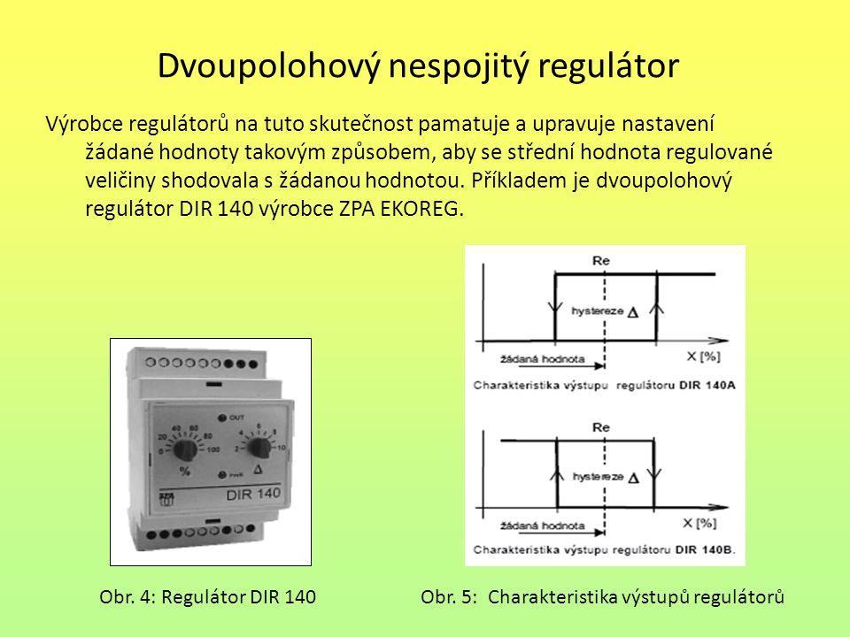 Dvoupolohový nespojitý regulátor S činností regulátoru se seznámíme na regulátoru tlaku – manostatu.