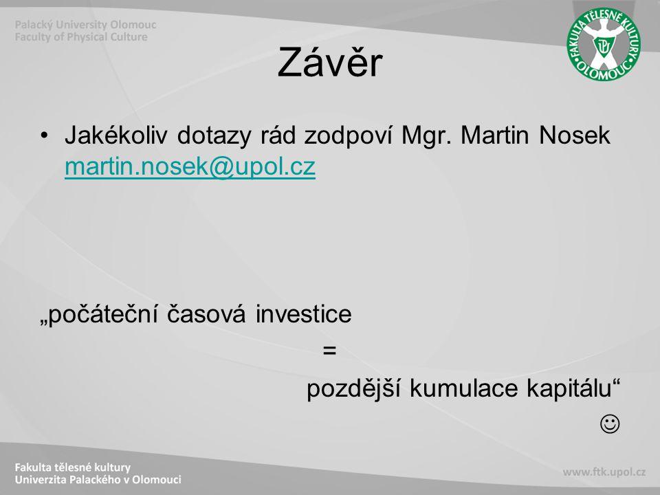 Závěr Jakékoliv dotazy rád zodpoví Mgr.