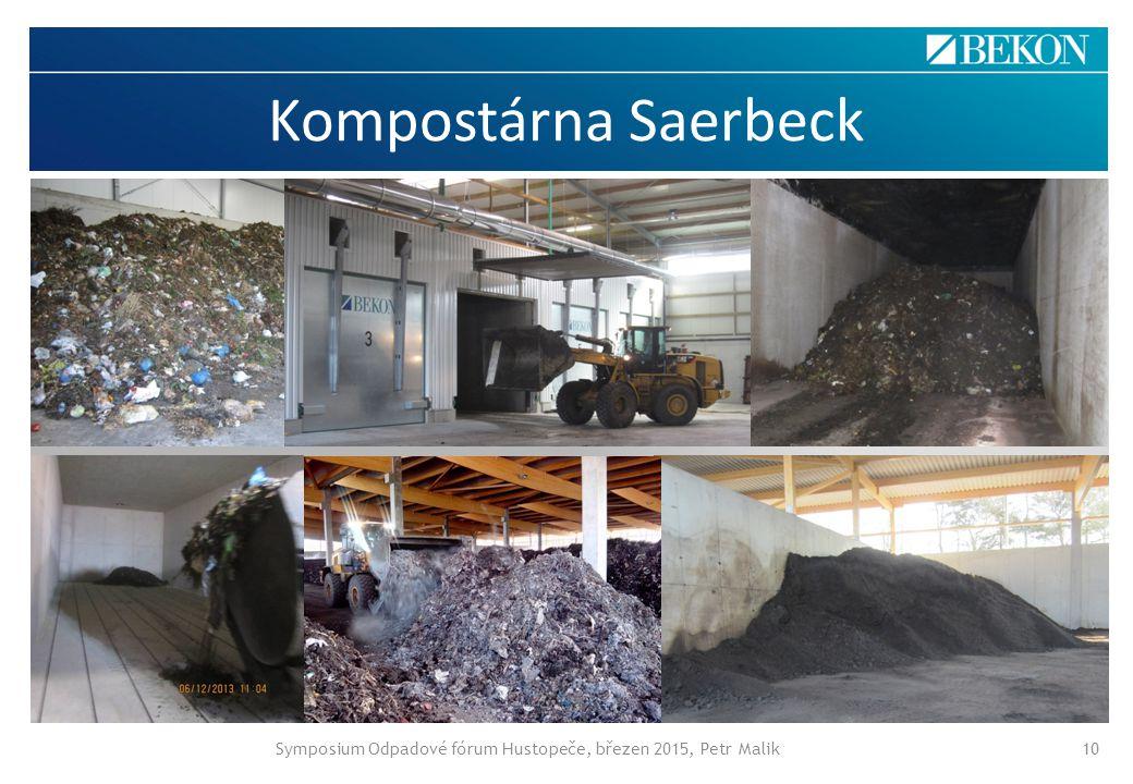 Kompostárna Saerbeck Symposium Odpadové fórum Hustopeče, březen 2015, Petr Malik10