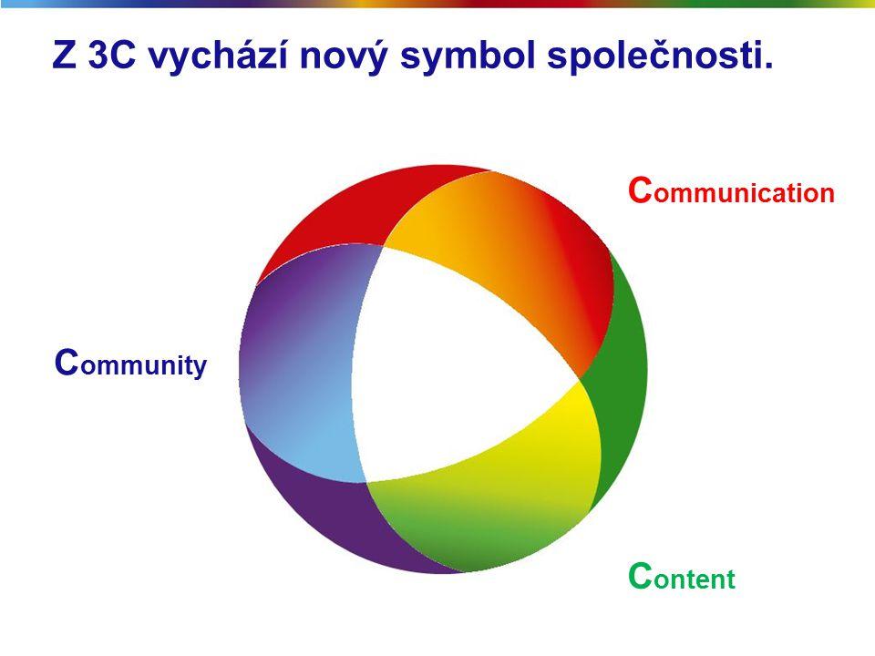 Z 3C vychází nový symbol společnosti. C ommunity C ontent C ommunication