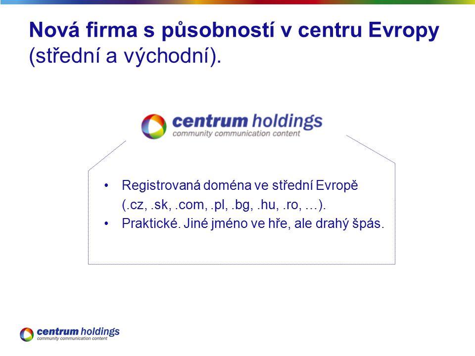 Nová firma s působností v centru Evropy (střední a východní).