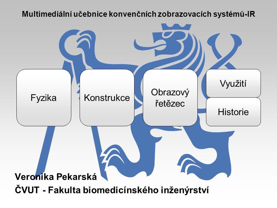Veronika Pekarská ČVUT - Fakulta biomedicínského inženýrství Multimediální učebnice konvenčních zobrazovacích systémů-IR FyzikaKonstrukce Obrazový řet