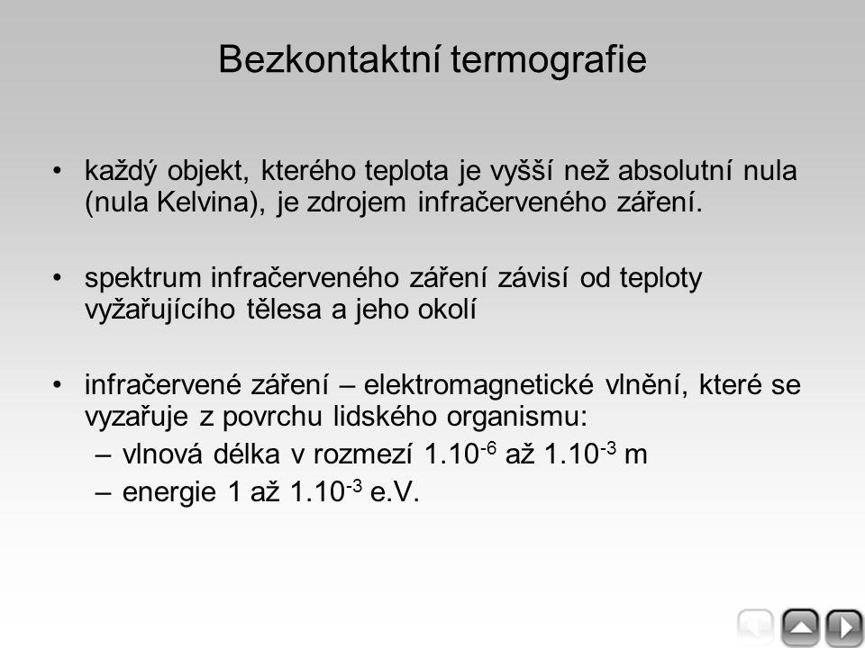 Bezkontaktní termografie každý objekt, kterého teplota je vyšší než absolutní nula (nula Kelvina), je zdrojem infračerveného záření. spektrum infračer