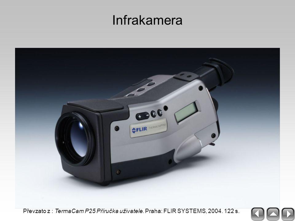 Infrakamera Převzato z : TermaCam P25 Příručka uživatele. Praha: FLIR SYSTEMS, 2004. 122 s.