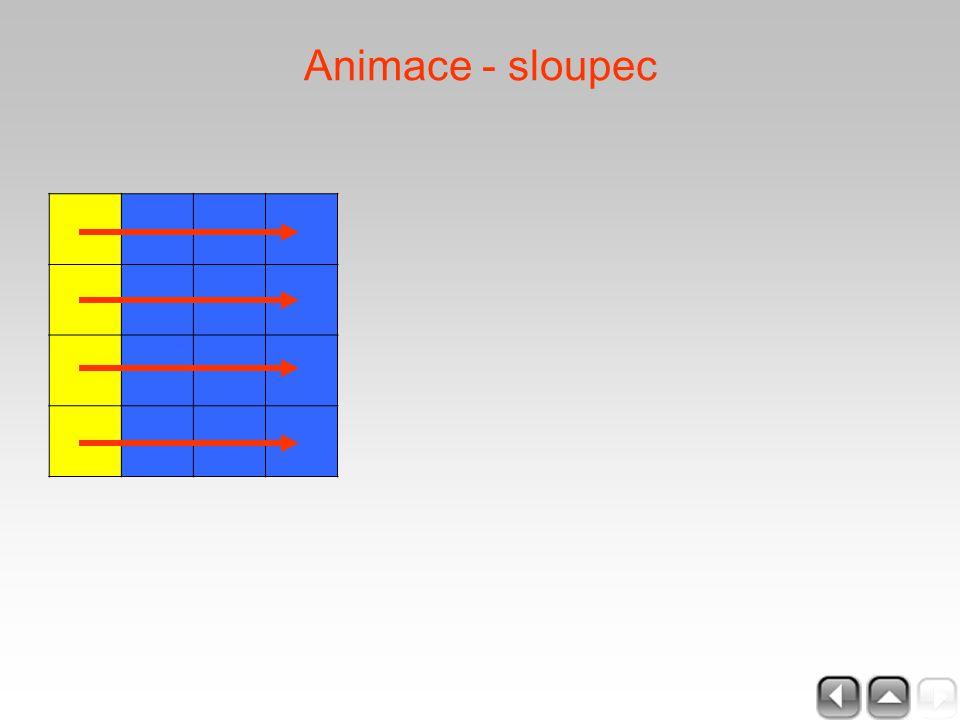 Animace - sloupec