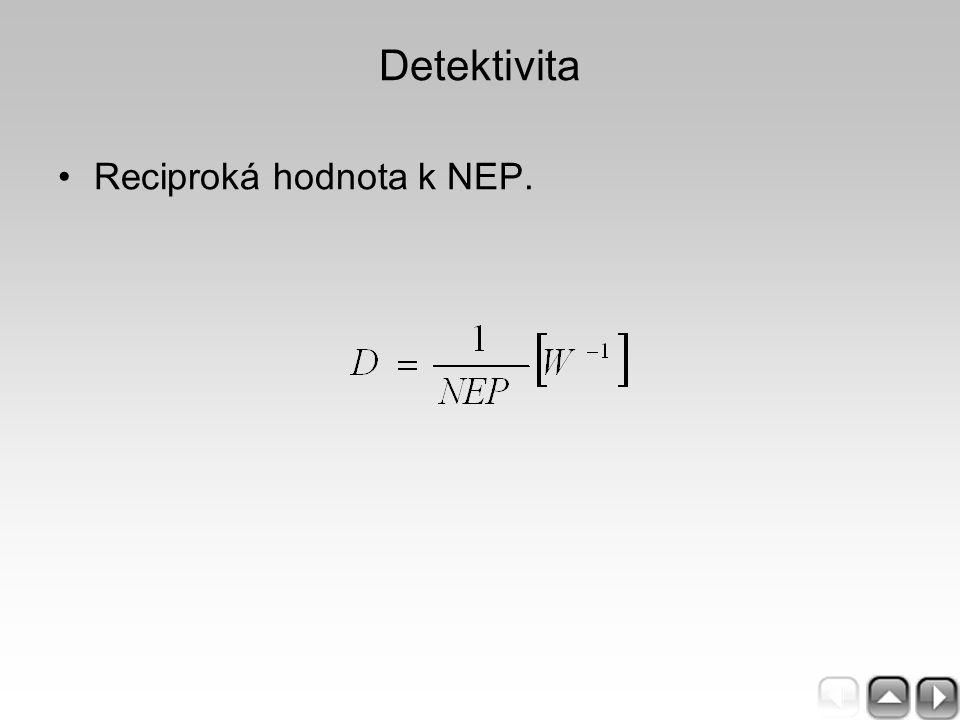 Detektivita Reciproká hodnota k NEP.