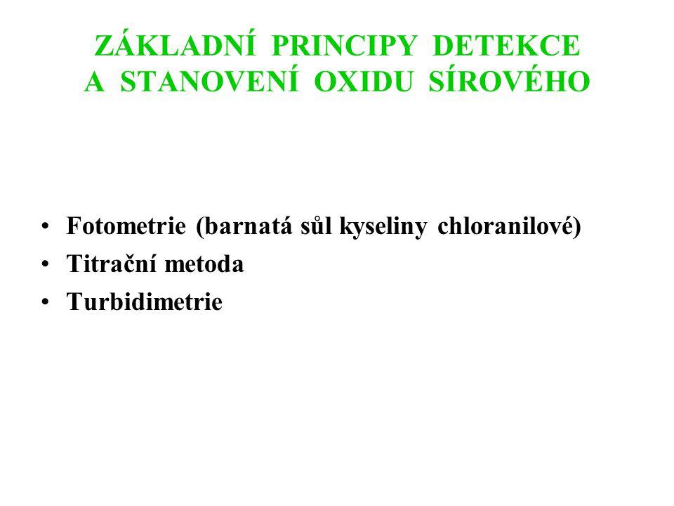 ZÁKLADNÍ PRINCIPY DETEKCE A STANOVENÍ OXIDů DUSÍKU Chemiluminiscenční metoda Fotometrie (azo-barvivo) Plynová chromatografie (ECD detektor)