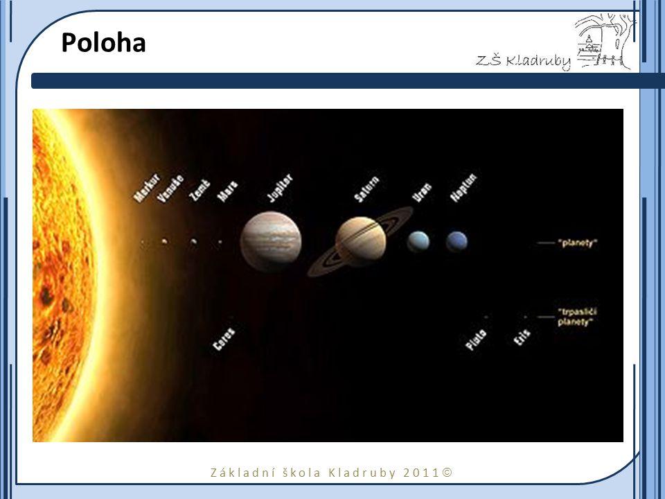 Základní škola Kladruby 2011  Charakteristika 1610 Galileo poprvé pozoroval Saturn.