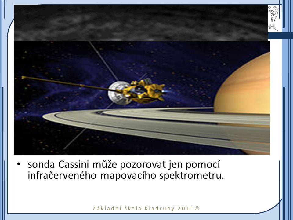 Základní škola Kladruby 2011  Atmosféra Atmosféra Saturnu se skládá téměř výhradně z vodíku a hélia. Vítr v atmosféře dosahuje rychlosti až 1 800 km/