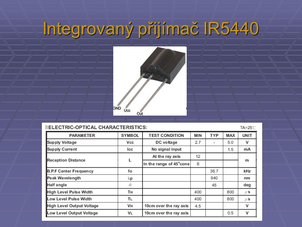 Integrovaný přijímač IR5440