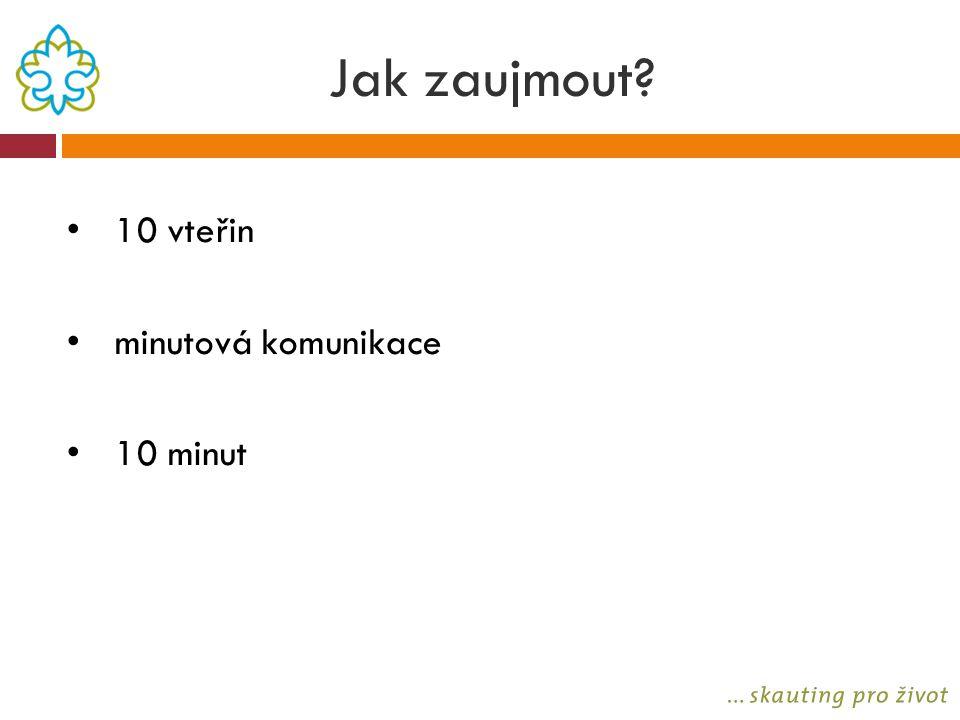 Jak zaujmout? 10 vteřin minutová komunikace 10 minut