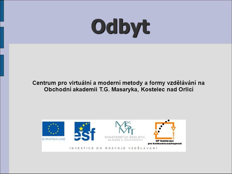 Odbyt Centrum pro virtuální a moderní metody a formy vzdělávání na Obchodní akademii T.G.