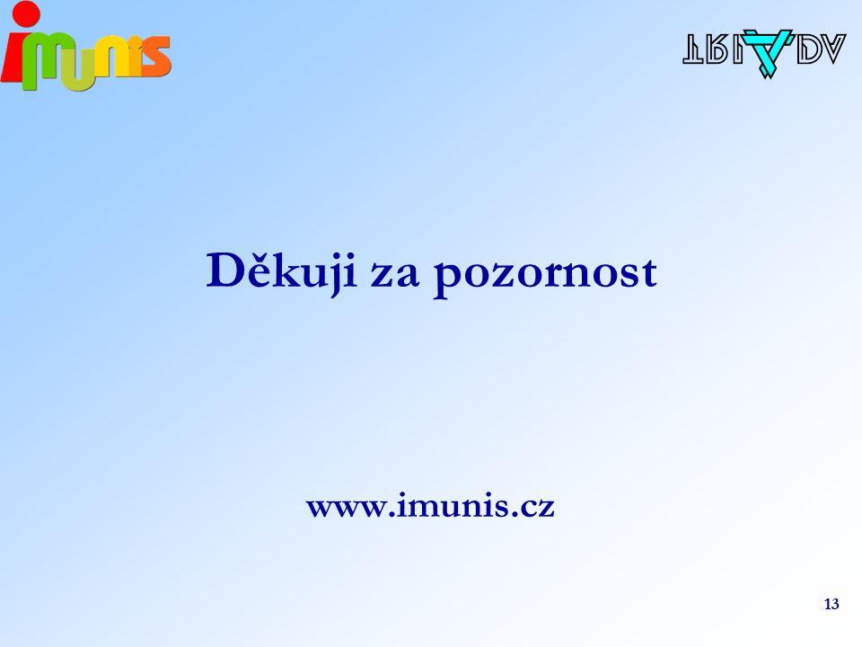 13 Děkuji za pozornost www.imunis.cz