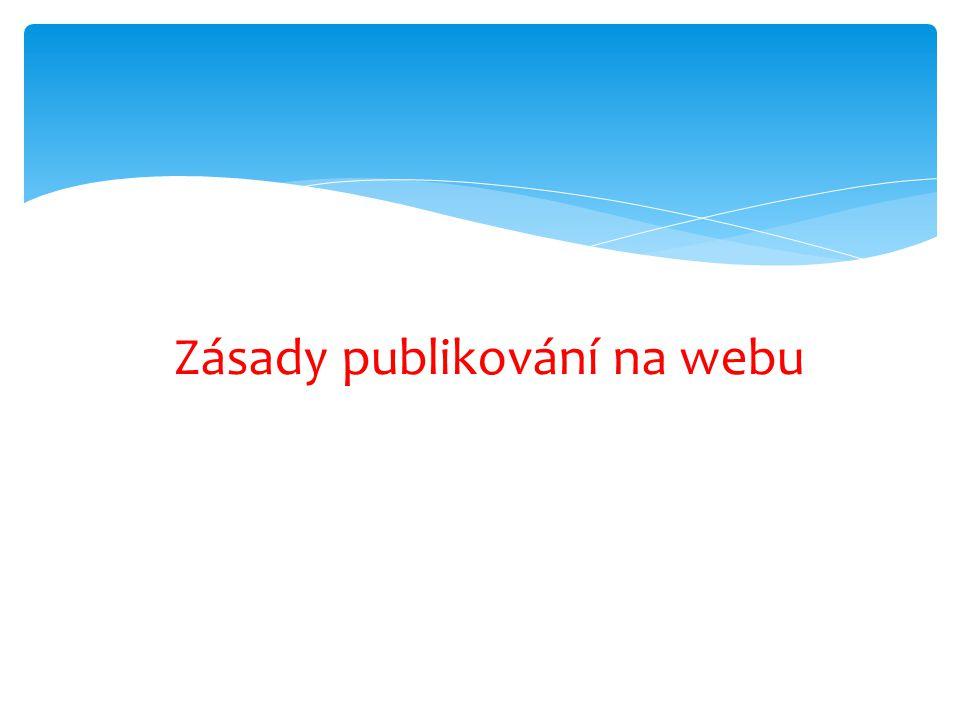 Zásady publikování na webu