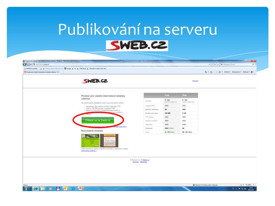 Publikování na serveru