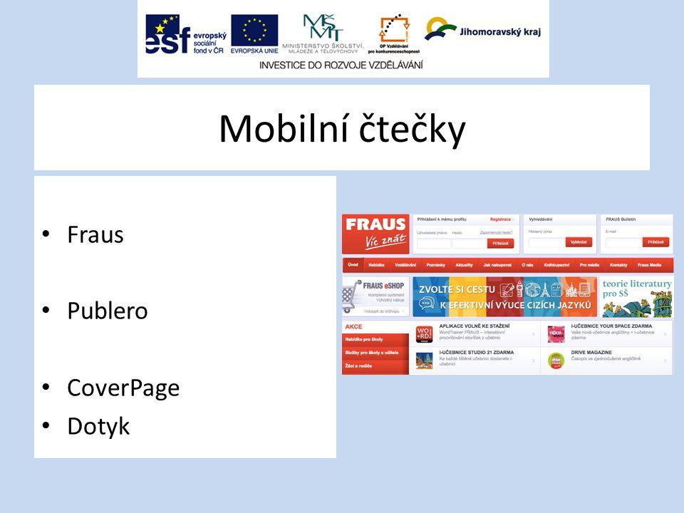 Mobilní čtečky Fraus Publero CoverPage Dotyk