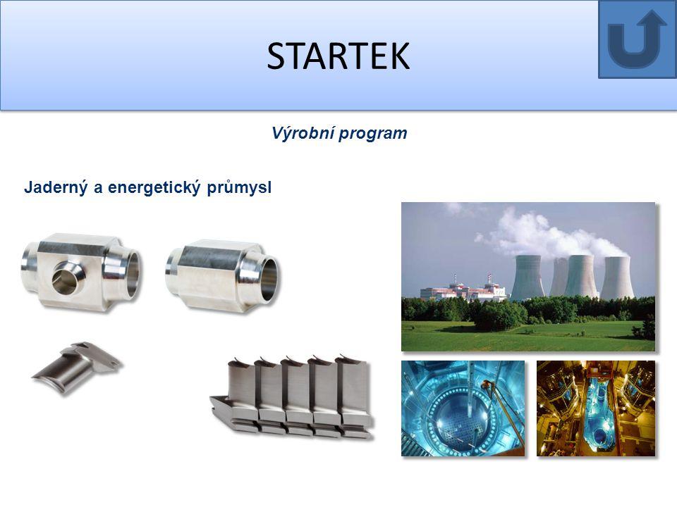 STARTEK Výrobní program Jaderný a energetický průmysl