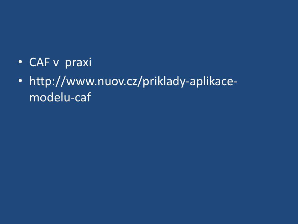 CAF v praxi http://www.nuov.cz/priklady-aplikace- modelu-caf