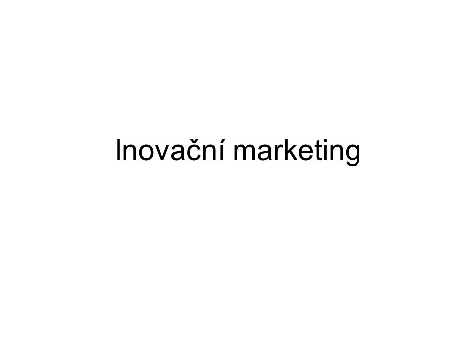 Inovační marketing