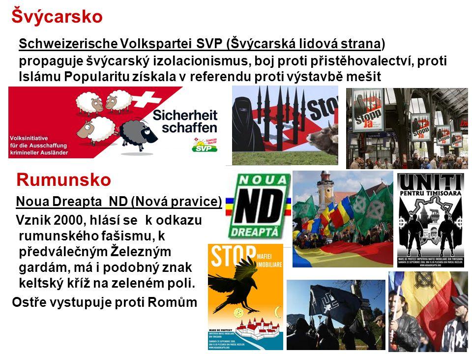 Maďarsko Jobbik Magyarországért Mozgalom - Jobbik Hnutí za lepší Maďarsko,) Extremní pravicová politická strana, vznik 2003, od 2010 má zastoupení v Maďarském parlamentu a 3 poslance v Evropském parlamentu.