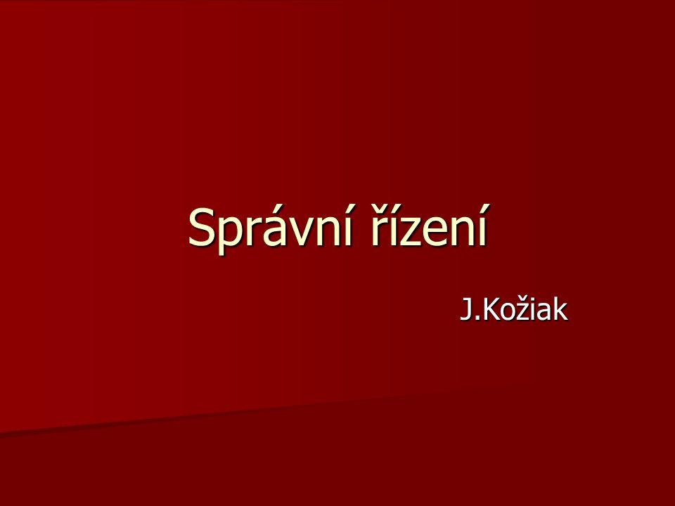 Správní řízení J.Kožiak