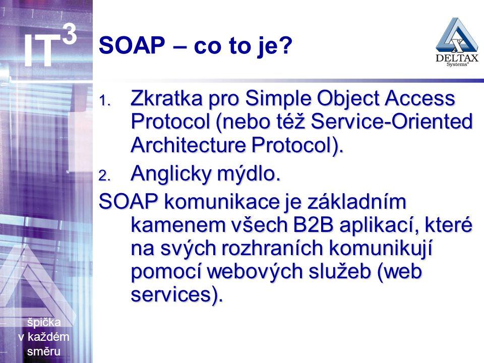 špička v každém směru IT 3 SOAP – co to je. 1.