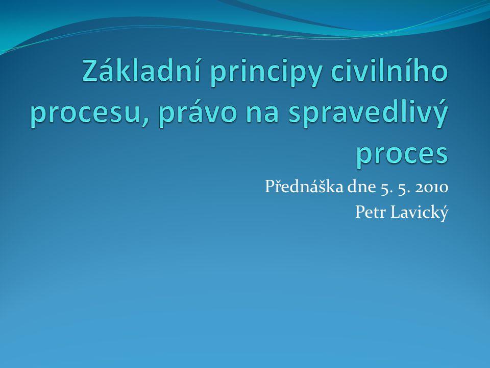 Přednáška dne 5. 5. 2010 Petr Lavický