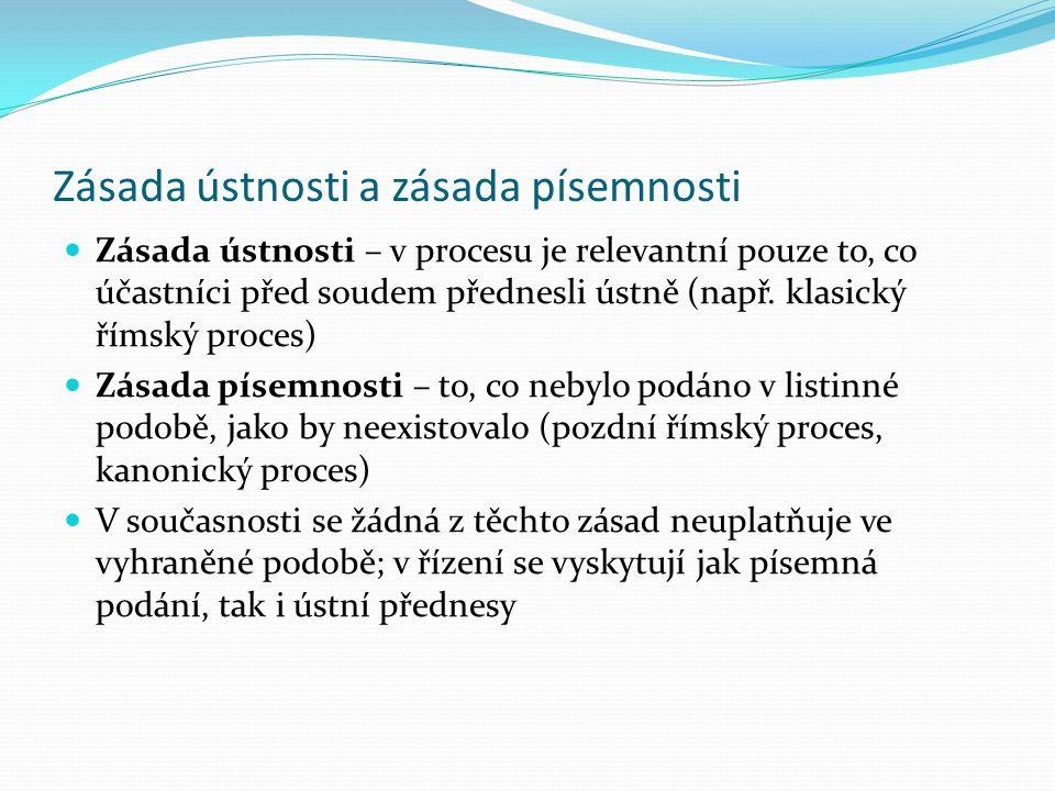 Zásada koncentrační V řízení jsou stanoveny určité úseky, v nichž je zapotřebí učinit určitý procesní úkon, jinak k němu soud nepřihlédne využití prek