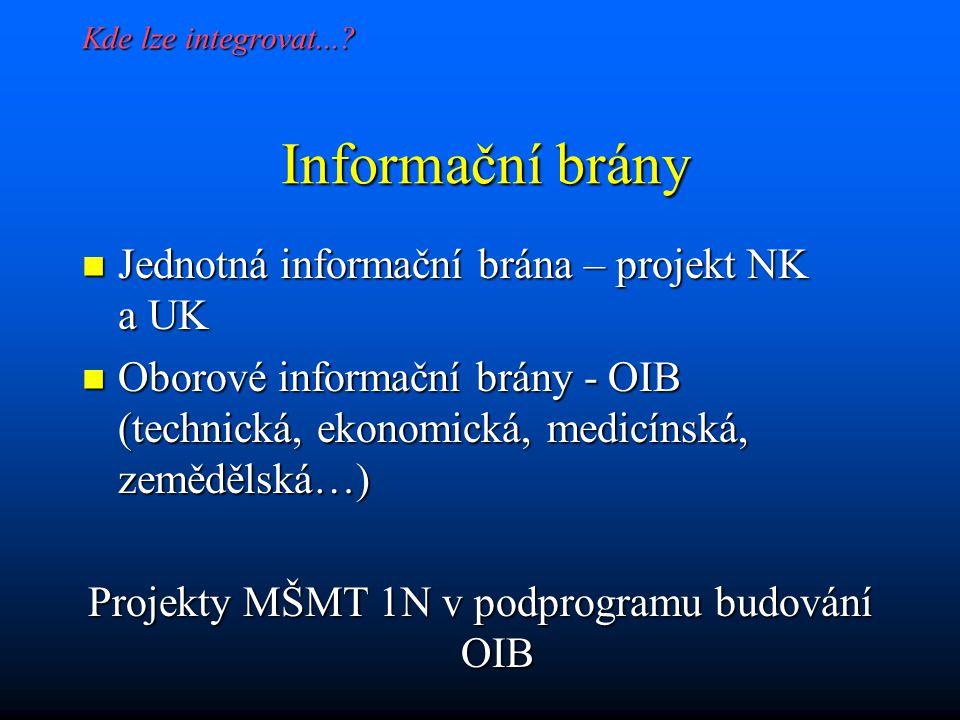 Co řeší informační oborové brány....