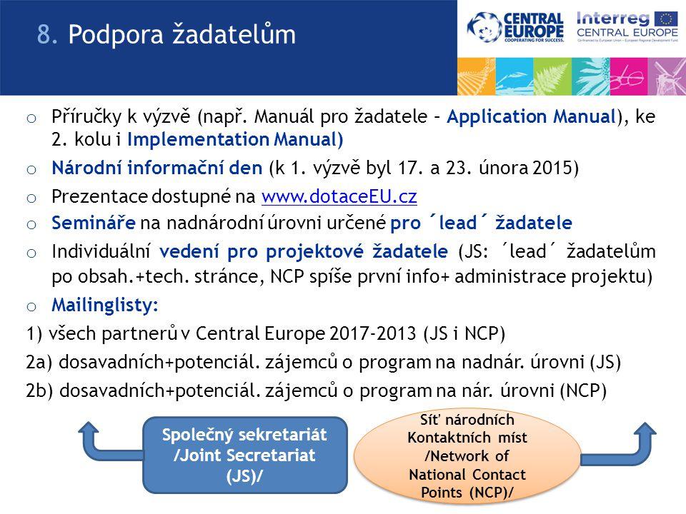 o Příručky k výzvě (např. Manuál pro žadatele – Application Manual), ke 2. kolu i Implementation Manual) o Národní informační den (k 1. výzvě byl 17.