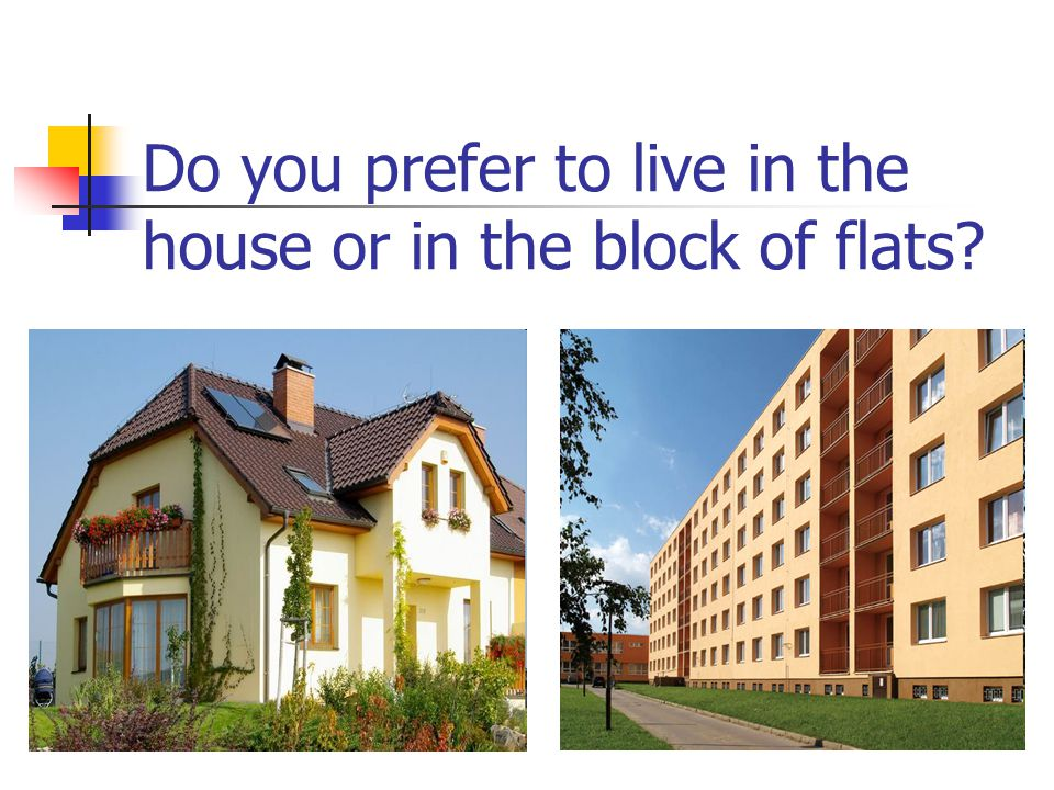 Do you prefer to live in the house or in the block of flats?