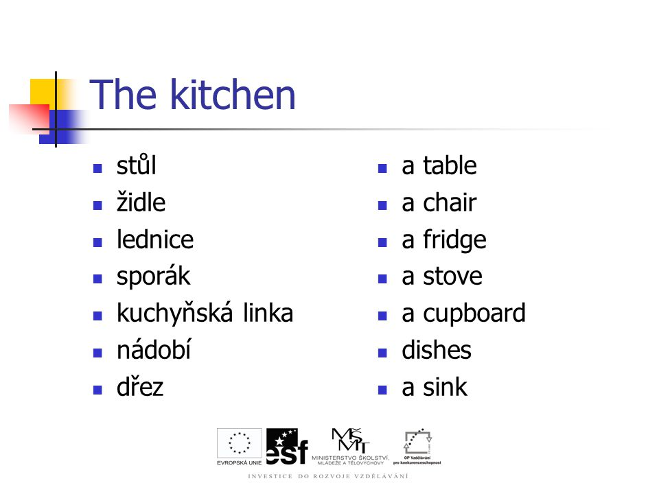 The kitchen Describe it