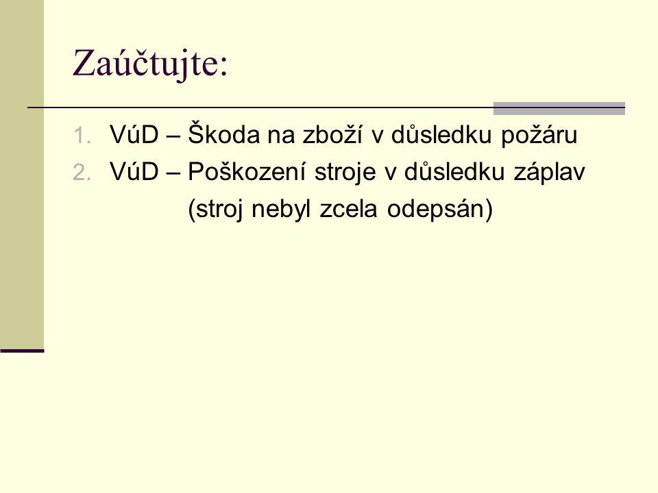 Zdroje: Ing.Pavel Štohl – Učebnice účetnictví 2.