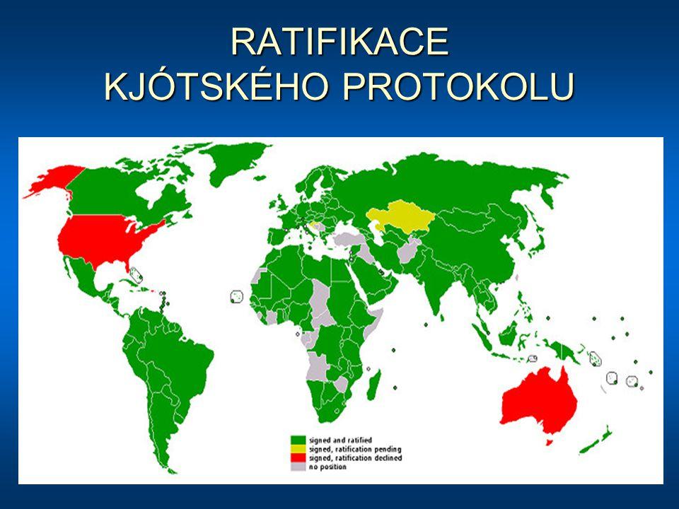 RATIFIKACE KJÓTSKÉHO PROTOKOLU