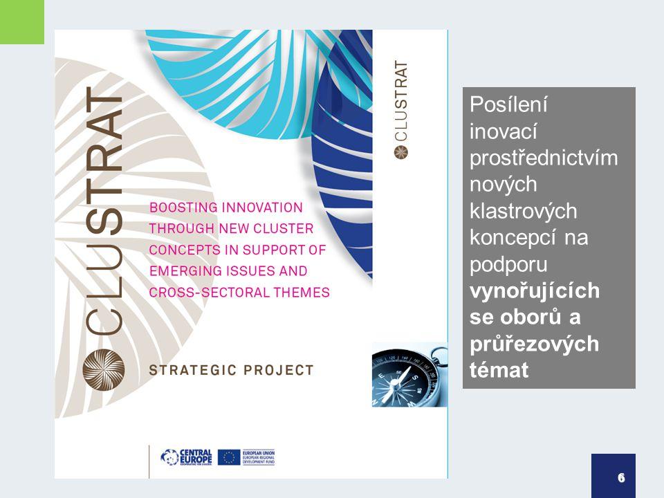 6 Posílení inovací prostřednictvím nových klastrových koncepcí na podporu vynořujících se oborů a průřezových témat