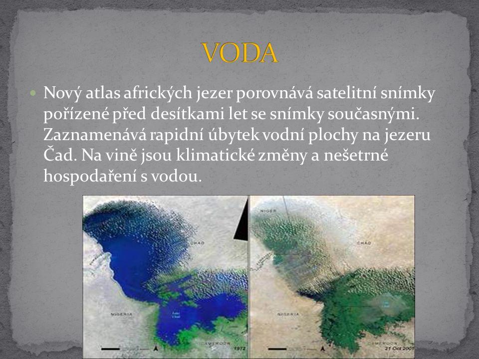 Nový atlas afrických jezer porovnává satelitní snímky pořízené před desítkami let se snímky současnými. Zaznamenává rapidní úbytek vodní plochy na jez