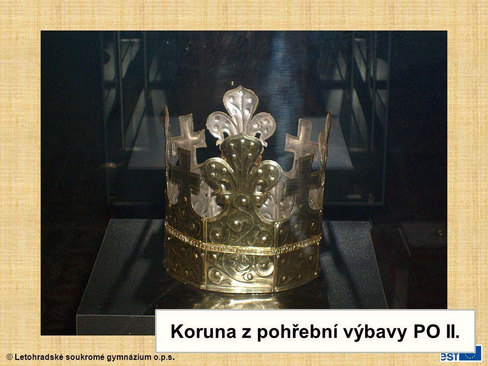 © Letohradské soukromé gymnázium o.p.s. Koruna z pohřební výbavy PO II.