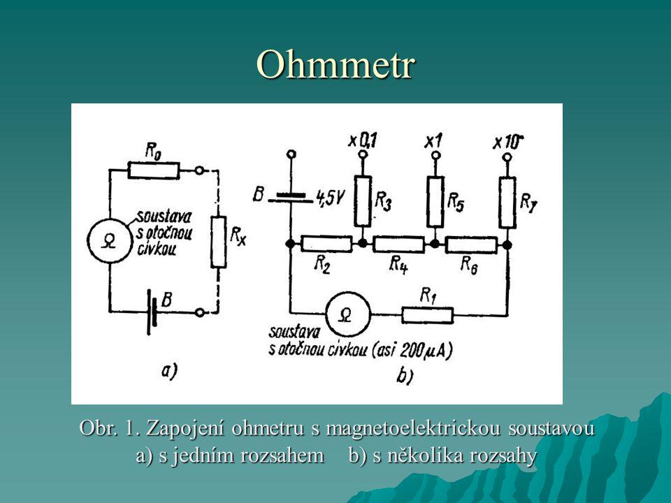 Ohmmetr Obr.1.