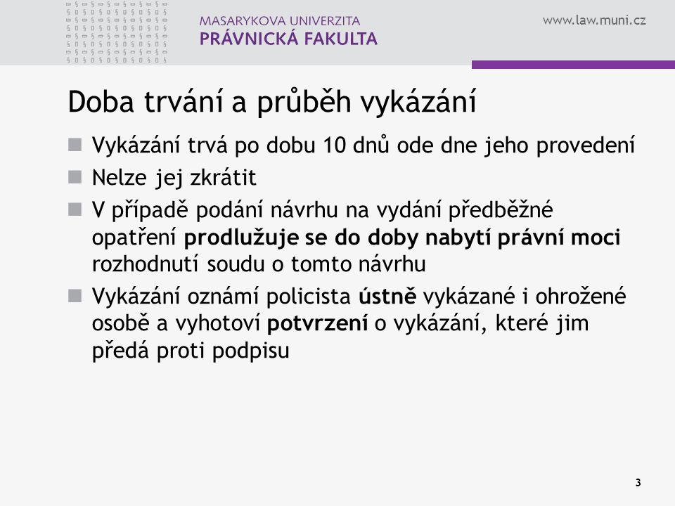 www.law.muni.cz Nahrazení vazby Záruka Písemný slib obviněného Dohled probačního úředníka Peněžitá záruka Vždy však může žádat o propuštění z vazby.